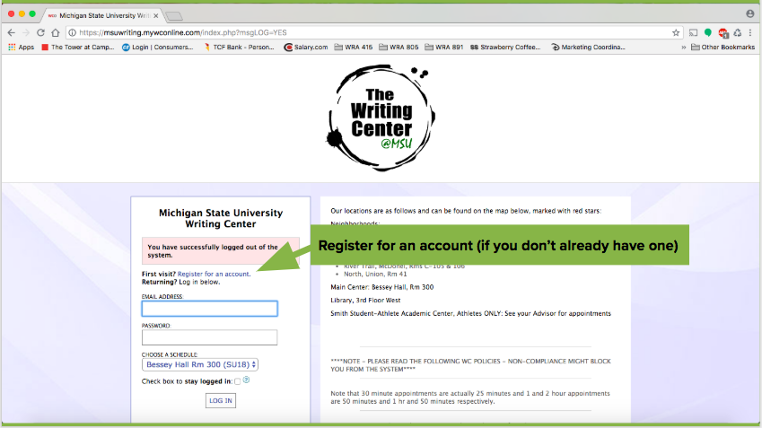 WCOnline demonstration of how to create an account