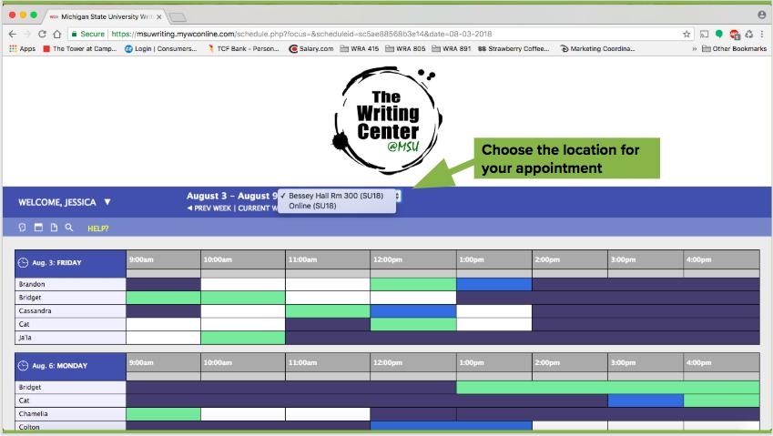 "WCOnline screenshot demonstrating ""choose a location"" dropdown menu"